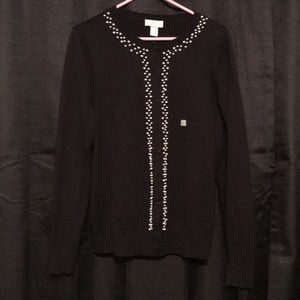Loft cardigan with pearl detailing L